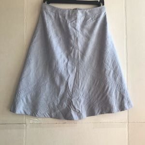 Powder blue skirt embroidered detail size 2p